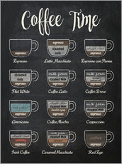 Wandsticker  Coffee Time (Englisch) - Typobox