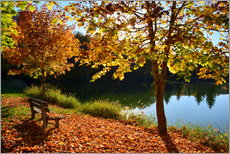 Premium-Poster Herbst am See