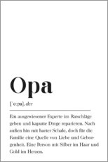 Gallery Print  Opa Definition - Pulse of Art
