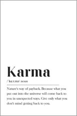 Alubild  Karma Definition (Englisch) - Pulse of Art