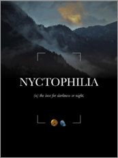 Premium-Poster Nyctophilia Definition (Englisch)