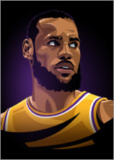 Premium-Poster Lebron James