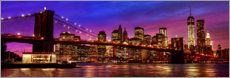 Acrylglasbild  Brooklyn bridge - Art Couture