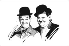 Wandsticker  Laurel und Hardy - tom