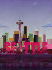 Premium-Poster Seattle-Skyline