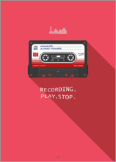 Alubild  Compact Cassette - Analoge Audioleistung - Black Sign Artwork
