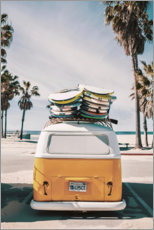 Premium-Poster  Surfer-Bus ? Ein Gefühl in Florida - Art Couture