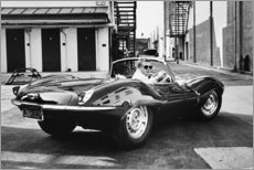 Premium-Poster  Steve McQueen im Jaguar - Celebrity Collection