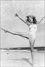 Leinwandbild  Marilyn am Strand - Celebrity Collection