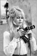 Alubild  Brigitte Bardot mit Kamera - Celebrity Collection