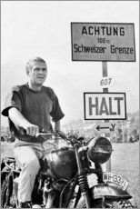 Holzbild  Steve McQueen in Gesprengte Ketten - Celebrity Collection