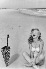 Leinwandbild  Marilyn Monroe am Strand - Celebrity Collection