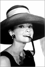 Leinwandbild  Audrey Hepburn im Sommeroutfit - Celebrity Collection