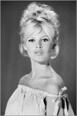 Premium-Poster  Brigitte Bardot schulterfrei - Celebrity Collection