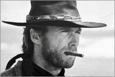 Leinwandbild  Clint Eastwood in Zwei glorreiche Halunken - Celebrity Collection