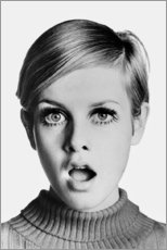 Leinwandbild  Twiggy erstaunt - Celebrity Collection