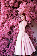 Leinwandbild  Audrey Hepburn im Abendkleid - Celebrity Collection