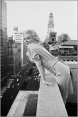 Hartschaumbild  Marilyn Monroe in New York - Celebrity Collection