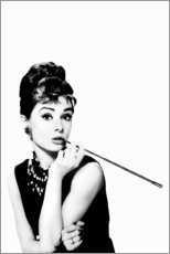 Leinwandbild  Rauchende Audrey - Celebrity Collection