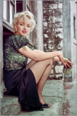 Leinwandbild  Marilyn Monroe in einer Filmpause - Celebrity Collection