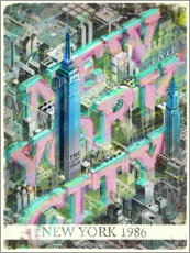 Premium-Poster New York City mit Empire State Building