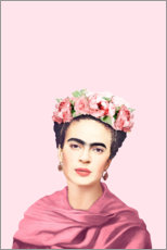 Leinwandbild  Hommage an Frida Kahlo - Celebrity Collection