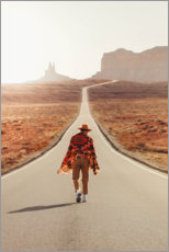 Premium-Poster Reise durch Monument Valley