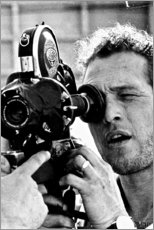 Alubild  Paul Newman mit Kamera - Celebrity Collection