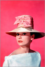 Leinwandbild  Audrey Hepburn - pink - Celebrity Collection