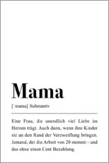 Holzbild  Mama Definition - Pulse of Art
