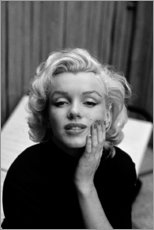 Leinwandbild  Marilyn Monroes verträumter Blick - Celebrity Collection