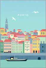 Gallery Print  Porto Illustration - Katinka Reinke