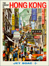 Acrylglasbild  Hong Kong - Jet BOAC - Travel Collection