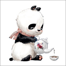 Leinwandbild  Teezeit mit Panda - Kidz Collection