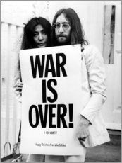 Acrylglasbild  Yoko & John - War is over!