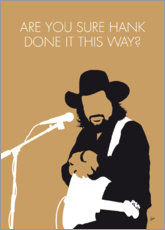Premium-Poster Waylon Jennings - Are You Sure Hank Done It This Way?