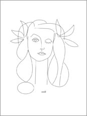 Premium-Poster  Hommage an Picasso - Annli