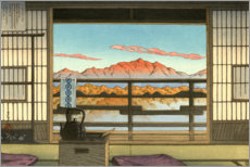 Leinwandbild  Morgens im Hot-spring Resort in Arayu - Kawase Hasui