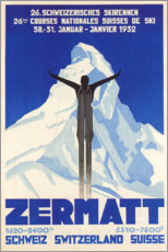 Acrylglasbild  Zermatt - Travel Collection