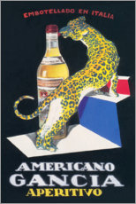 Acrylglasbild  Gancia Vermouth Bianco (italienisch) - Advertising Collection