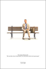 Holzbild  Forrest Gump (englisch) - Entertainment Collection
