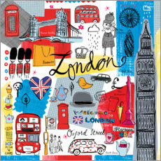 Acrylglasbild  Global Travel ? London - Farida Zaman