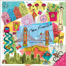 Acrylglasbild  Global Travel ? San Francisco - Farida Zaman