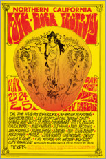 Premium-Poster Northern California Folk-Rock Festival (englisch)