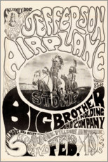 Premium-Poster Jefferson Airplane 1966
