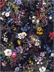 Alubild  Florales Muster I - William Kilburn