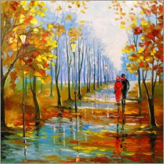 Holzbild  Herbstspaziergang - Olha Darchuk