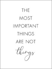 Gallery Print  The most important things - Nouveau Prints