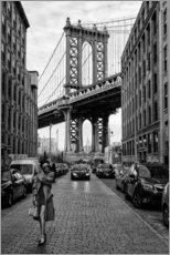 Holzbild  Brooklyn mit Manhattan Bridge - Robert Bolton