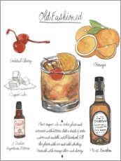 Leinwandbild  Klassischer Cocktail - Old Fashioned - Naomi McCavitt